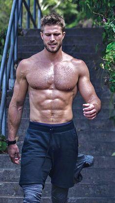 Hairy Hunks, Hunks Men, Hot Hunks, Hairy Men, Bearded Men, Hommes Sexy, Muscular Men, Shirtless Men, Male Fitness
