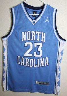 3add9874846 Men 23 Michael Jordan Jersey Blue North Carolina Tar Heels Throwback.  Basketball ...