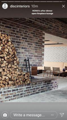 Open Fireplace, Fireplace Surrounds, Thin Brick, Brick Tiles, Sand Casting, Tile Grout, Light Texture, Flat Color, Modern Classic