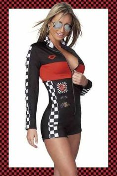 Hot Rod Racer Girl Costume One Size Fits Most by Coquette 2e4b0832b