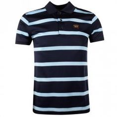 Paul & Shark Blue Striped Polo Shirt. Available now at www.brother2brother.co.uk