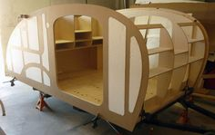 Nice construction of teardrop trailer