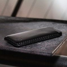 iPhone 5 Sleeve in Jet | Handsewn 100% leather with no linings, rubber or glue. Perfect way to keep your iPhone 5 safe and sleek.