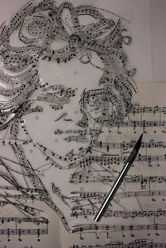 Works of Art Made from Musical Notes