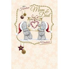 Mum And Dad Me to You Bear Christmas Card  £2.49