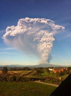 FOTOS + VIDEOS | Volcán Calbuco: toque de queda en Puerto Montt, Pto. Varas y Pto. Octay | El Dínamo