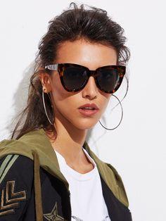 8c26aa72a Shop Oversized Cat Eye Sunglasses online. SheIn offers Oversized Cat Eye  Sunglasses & more to
