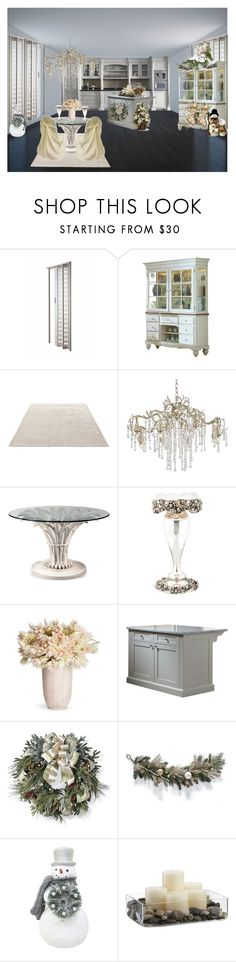 """White Christmas Fine Dining/Kitchen"" by bamasbabes on Polyvore featuring interior, interiors, interior design, home, home decor, interior decorating, &Tradition, Possini Euro Design, Roberto Giovannini and Universal"