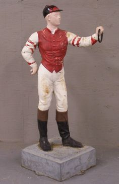 A lawn jockey to paint in your own custom race colors