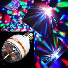 Crystal Magic Bulb 360 Derece Dönen Renkli Dekoratif Lamba