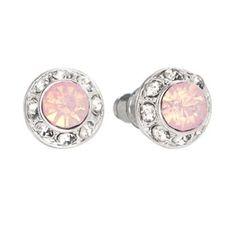 LC Lauren Conrad Silver Tone Simulated Crystal Halo Stud Earrings