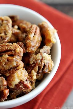 15 Minute Candied Cinnamon Pecans recipe -- TWO cups #pecans, sugar, cinnamon, vanilla. The End.