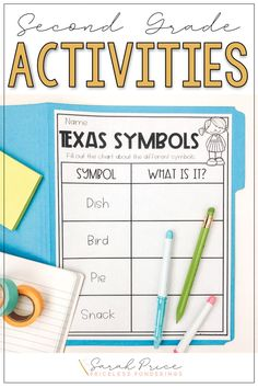 Grab some fun Texas symbols printables and activities for your 2nd grade social studies class.