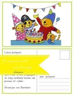 Ankerpunt: er is er één jarig Kringactiviteit: Pompom heeft een feestje - jufanja.eu