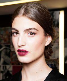 red lip stain / inspirações de batons tendência e maquiagens