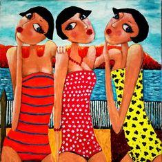 Wine Painting, Painting & Drawing, Watercolor Paintings, Original Paintings, Baba Yaga, Girlfriends, Art Drawings, Creations, Sisters