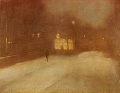 Nocturne in Gray and Gold snow in Chelsea - James McNeill Whistler