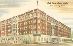 POSTCARD - CHICAGO - OAK PARK ARMS HOTEL AND DINING ROOM - c1940