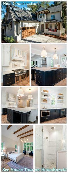 Grey Kitchen Design - Home Bunch Interior Design Ideas Cabinet Door Styles, Kitchen Cabinet Styles, Luxury Interior Design, Interior Design Services, Grey Kitchen Designs, British Home, Waterfront Homes, Visual Comfort, Black House
