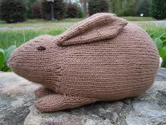 Stuffed bunny free knitting pattern