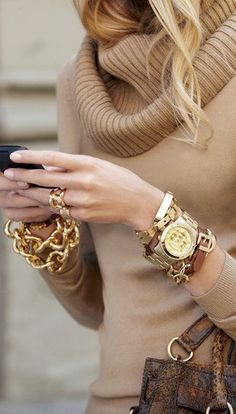 great watch and bracelets