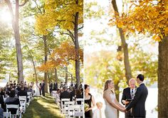 Gorgeous outdoor fall ceremony Sarah Postma Photography www.sarahpostma.com