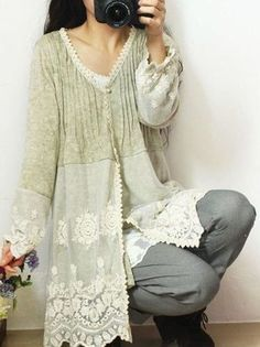 Image result for upcycle cardigan lace