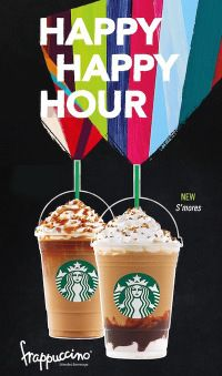 50% Off Frappuccino Blended Beverages at Starbucks – 5/1-5/10/2015, 3-5PM
