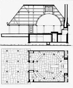 Planta y sección de la capilla