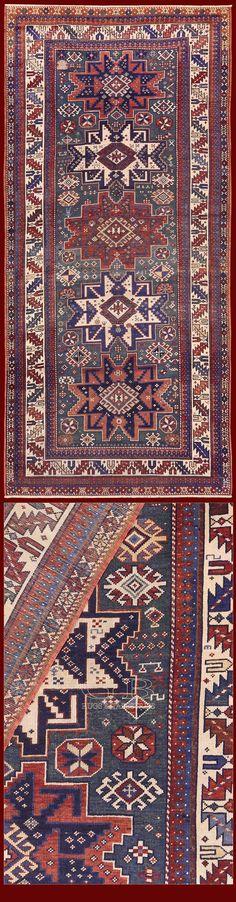 Shirvan Lesghi Antico 268x125 Cod. 141524758834 | TAPPETI CAUCASICI ANTICHI | GB Rugs