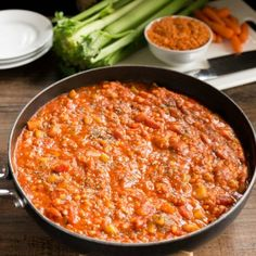 This hearty Lentil Bolognese is packed with veggies. It's hearty, satisfying, and delicious!
