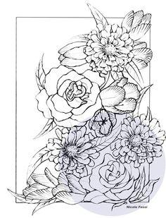 """Flowers"" Art Print by Nicole Fossi"