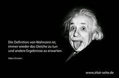 Einsteins Definition von Wahnsinn