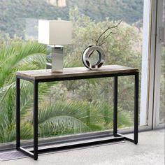 Maison du monde - 150 € - Table console indus en métal et bois massif noire L 119 cm