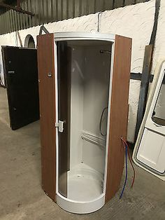 caravan shower unit cubicle ideal for camper conversion or motorhome rv build pinterest. Black Bedroom Furniture Sets. Home Design Ideas