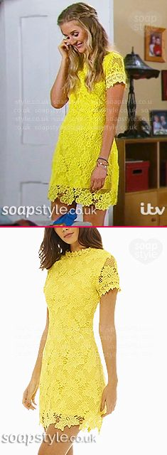 Found: Holly's Yellow Dress in Emmerdale [✚Click photo for info]
