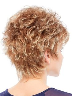 Short, light-weight style by Jon Renau with all-over layering & soft, short waves, subtle feathering and a comfy feel. Use with a synthetic styling product to create vibrant texture or wear it more… Short Curly Hair, Curly Hair Styles, Natural Hair Styles, Short Pixie, Pixie Crop, Short Hair With Layers, Short Hair Cuts For Women, Jon Renau, Long Hair Tips