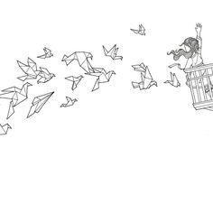 ☁️☁️ looking for winter migrants ❄️ Next coloringbook coming up! #AGiftForAll #컬러링북 #색칠공부 #스케치 #드로잉 #선물 #그림 #일러스트 #새 #종이접기 #소녀 #힐링 #철새 #펜화 #시간의정원 #시간의방#Colouringbook #coloringforadults #Coloringbook #colouringin #sketch #art #drawing #art #fly #winter #bird #gift #DariaSong #TheTimeGarden #thetimechamber