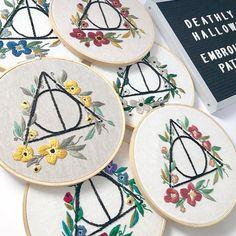 Embroidery Pattern PDF. Downloadable Art. Harry Potter Art.