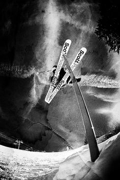 Awesome skiing shot!- Really cool bottom up shot!