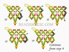 Free pattern for necklace Masai (Beads Magic) Beading Patterns Free, Beading Tutorials, Free Pattern, Beaded Christmas Ornaments, Diy Ornaments, Felt Christmas, Homemade Christmas, Glass Ornaments, Christmas Crafts