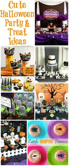 Cute #Halloween Party & Treat Ideas