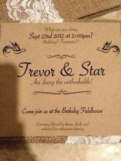 simple nontraditional wedding invitation wording