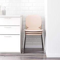 stackable pink chairs