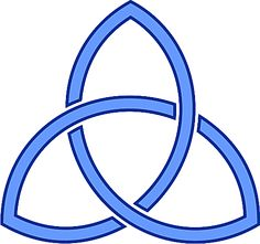 Christianity: Trinity (Triquetra) - The Triquetra is a three-part interlocking fish symbol that symbolizes the Christian trinity. Biblical Symbols, Letter Symbols, Religious Symbols, Spiritual Symbols, Sacred Symbols, Ancient Symbols, Council Of Nicea, Trinity Symbol, Trinity Knot