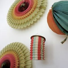 garden party...: Vintage French Tassel Paper Lanterns ~ Trampoline