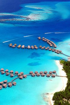 Four Seasons Resort Bora Bora, French Polynesia ~ Savvy Jewel of the Sea Travel Vacation Places, Dream Vacations, Vacation Trips, Vacation Spots, Places To Travel, Places To Visit, Romantic Vacations, Italy Vacation, Beautiful Hotels