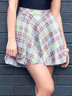 Tartan Pastel Pocket Skater Skirt (WW $65AUD / US $52USD) by Black Milk Clothing