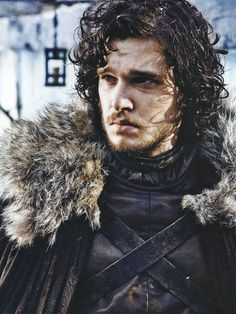 Jon Snow, Ned Stark's bastard son who joined (was really forced to join) the Night Watch.                                                                                                                                                      Mais