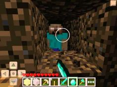 I FOUND herobrine Minecraft PE not me , the guy who made this video found herobrine